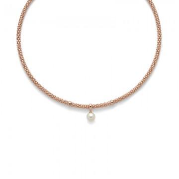 Collana Miluna Perle e Argento